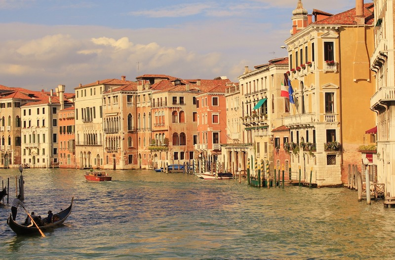 Kanál v Benátkách