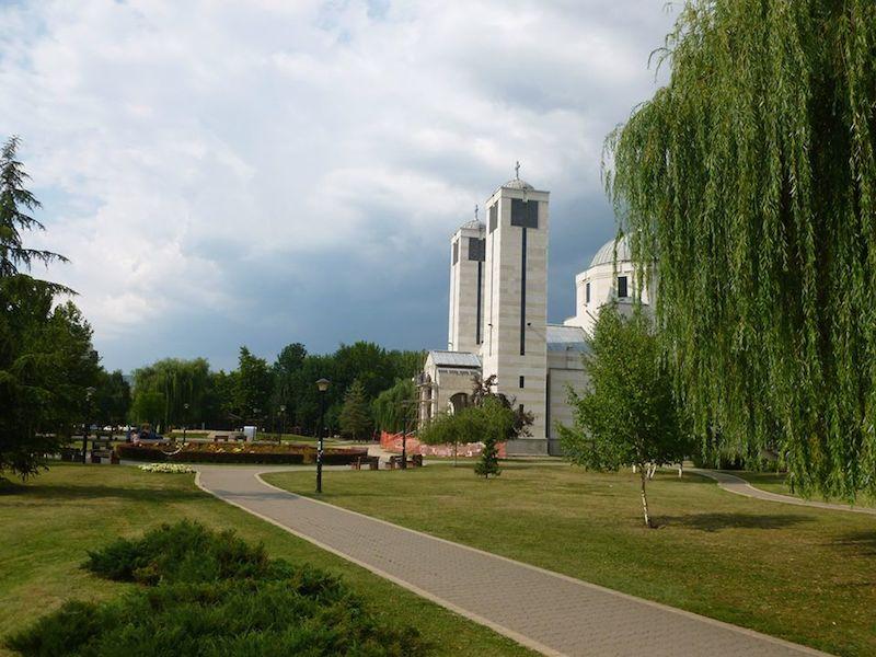 Park Sveti Sava a pravoslavný kostel