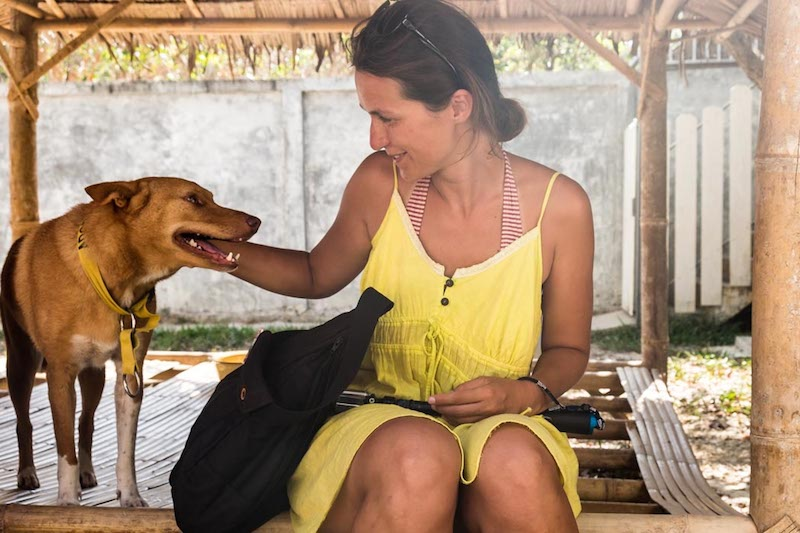 Ivana v záchranném centru na Koh Lante