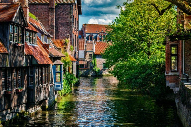 vodní kanály v Bruggách