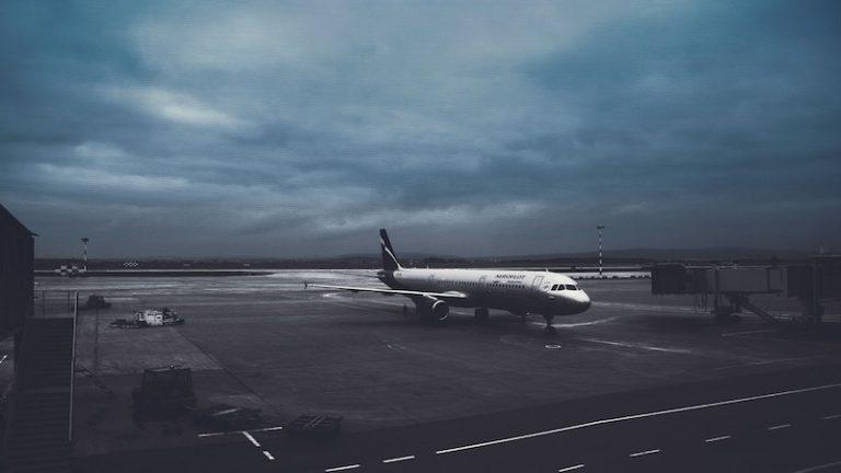 Letiště v noci