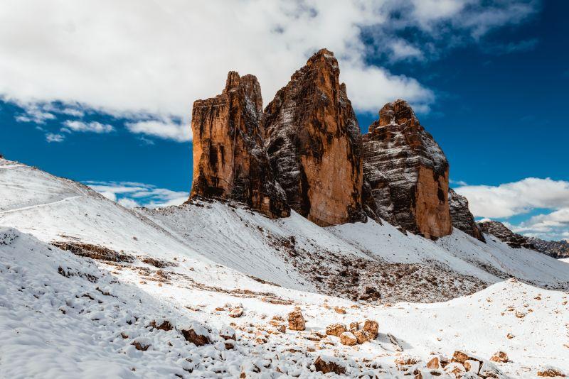 Pohled na Drei Zinnen Dolomity