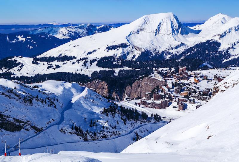 Lyžování francouzské Alpy Avoriaz