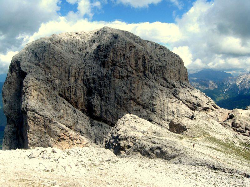 Vrchol Sass de Putia Itálie