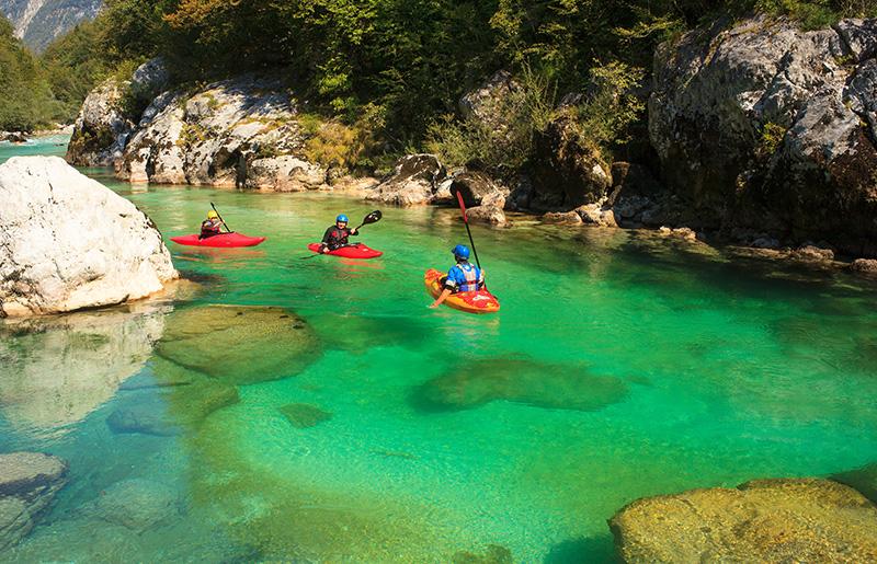 Soča rafting ve Slovinsku