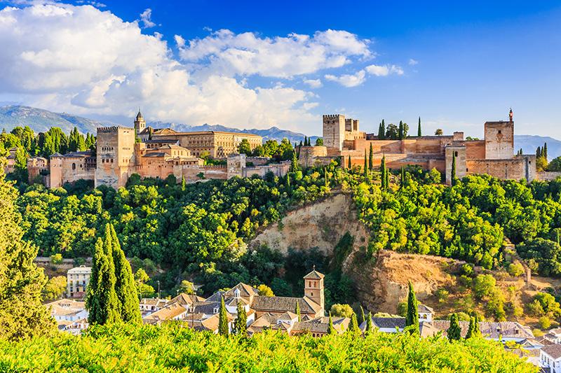Granada Alhambra Španělsko