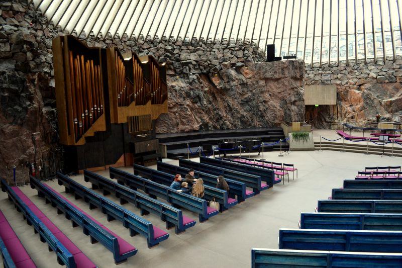 Kamenný kostel Temppeliaukio