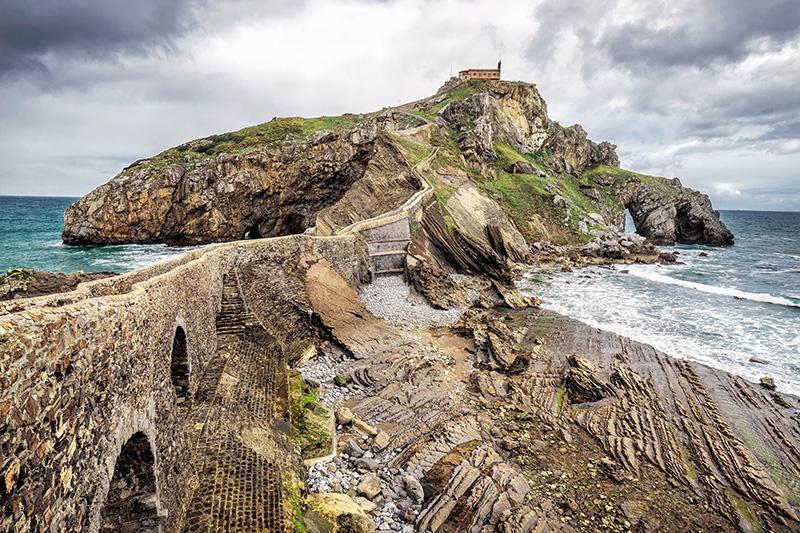San Juan de Gaztelugatxe Baskicko Španělsko