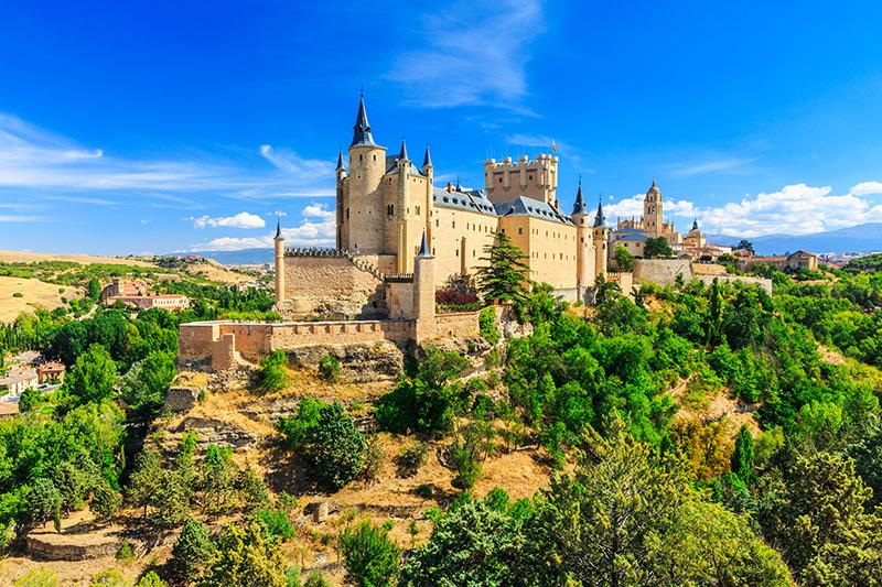 Segovia Kastílie Španělsko