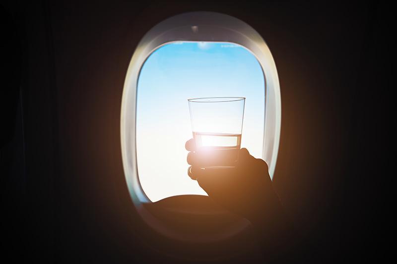Hydratace během letu