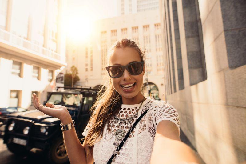 Vloger selfie