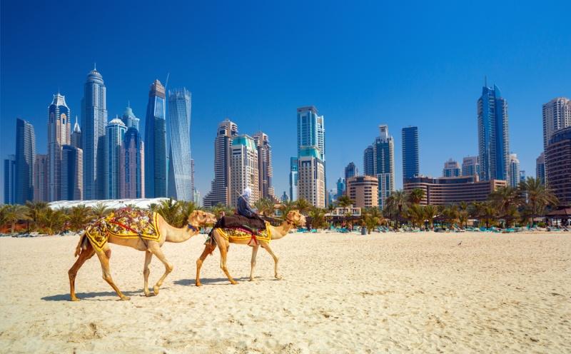 Pobřeží v Dubaji