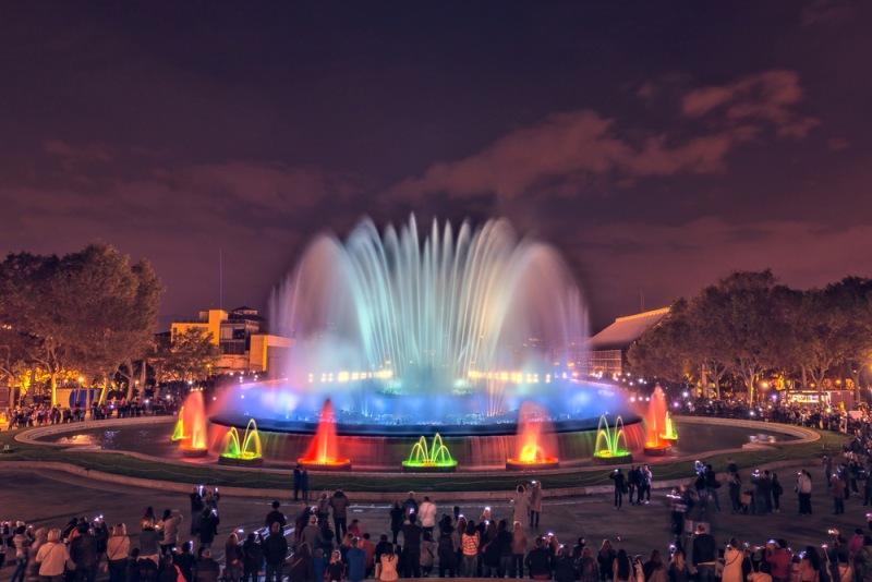 Magická fontána v Barceloně