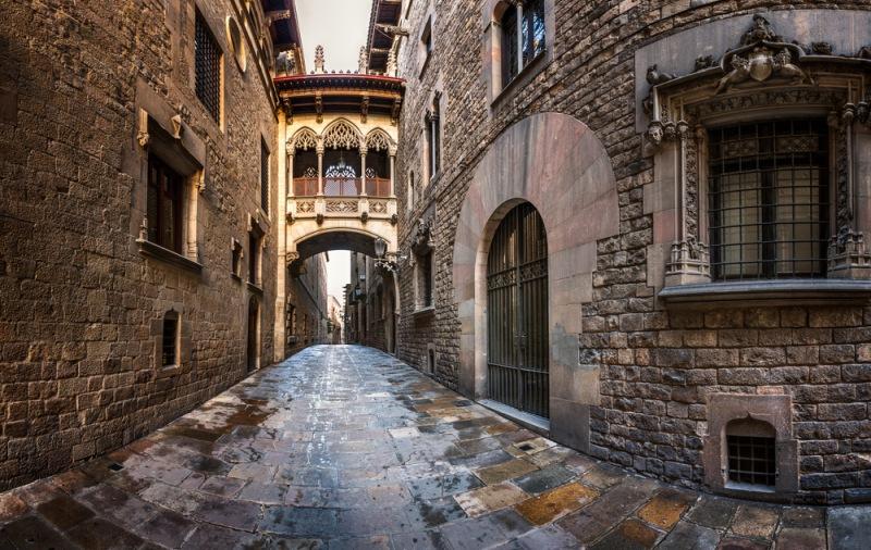 Gotická čtvrť Barcelona